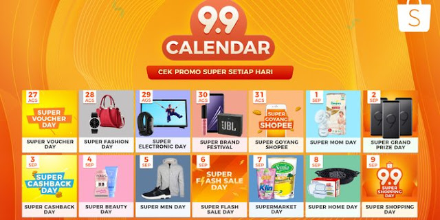 Shopee 9.9 Super Shopping Day! Belanja Jadi Hemat!