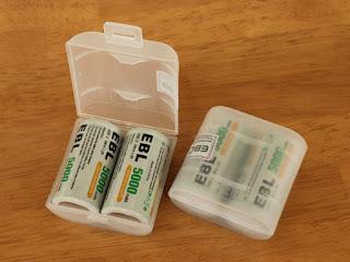 EBL 充電式ニッケル水素電池 単2形 4個パック 5000mAh ケース付き(高容量5000mAh、約1200回使用可能)
