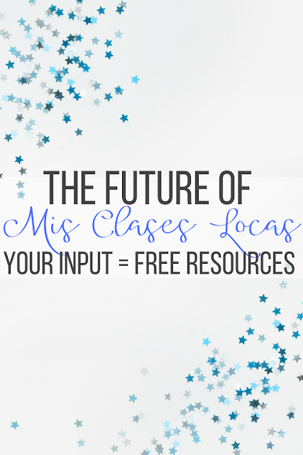 The future of Mis Clases Locas - Your input = free resources & books