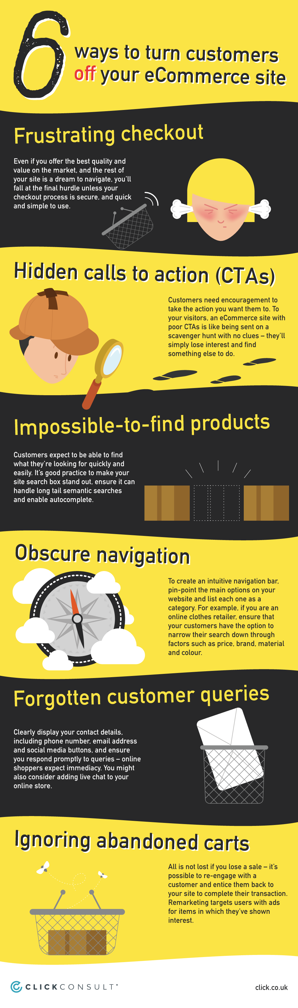 6 Ways to Turn Customers Off Your eCommerce Site - #Infographic