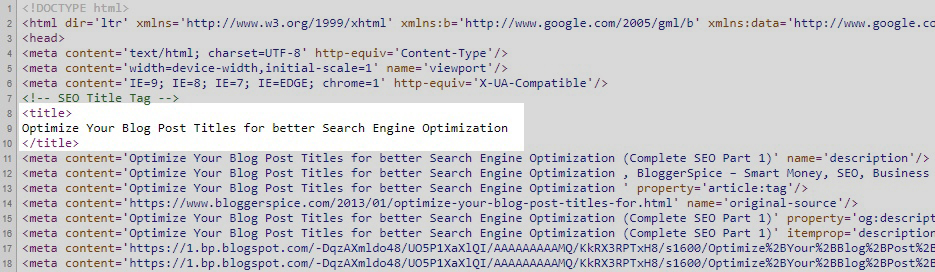 How To Add Blogspot Post Title to H1 Tag For Better SEO