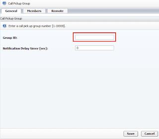 Создание Call Pickup в Openscape voice