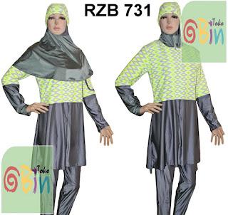 baju renang muslimah syari RZB 731
