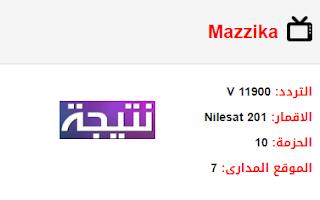 تردد قناة مزيكا Mazzika الجديد 2018 على النايل سات