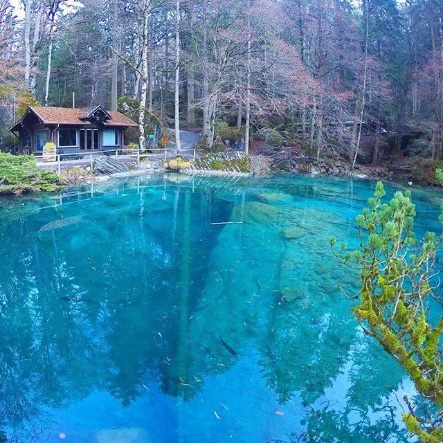 20 Spots In Europe You Must See Before You Die - Blausee Lake, Kandergrund, Switzerland.