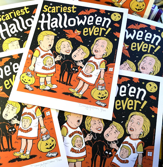 "Signed, limited edition ""Scariest Halloween Ever"" silkscreen prints are ready to ship!"