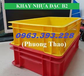 Thùng nhựa đặc B2, Khay nhựa đặc chứa đồ, Khay nhựa đặc đựng đồ dùng cá nhân