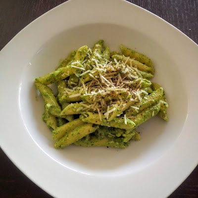 Pesto Pasta:  A simple and quick pasta dish made with an easy basil pesto sauce.