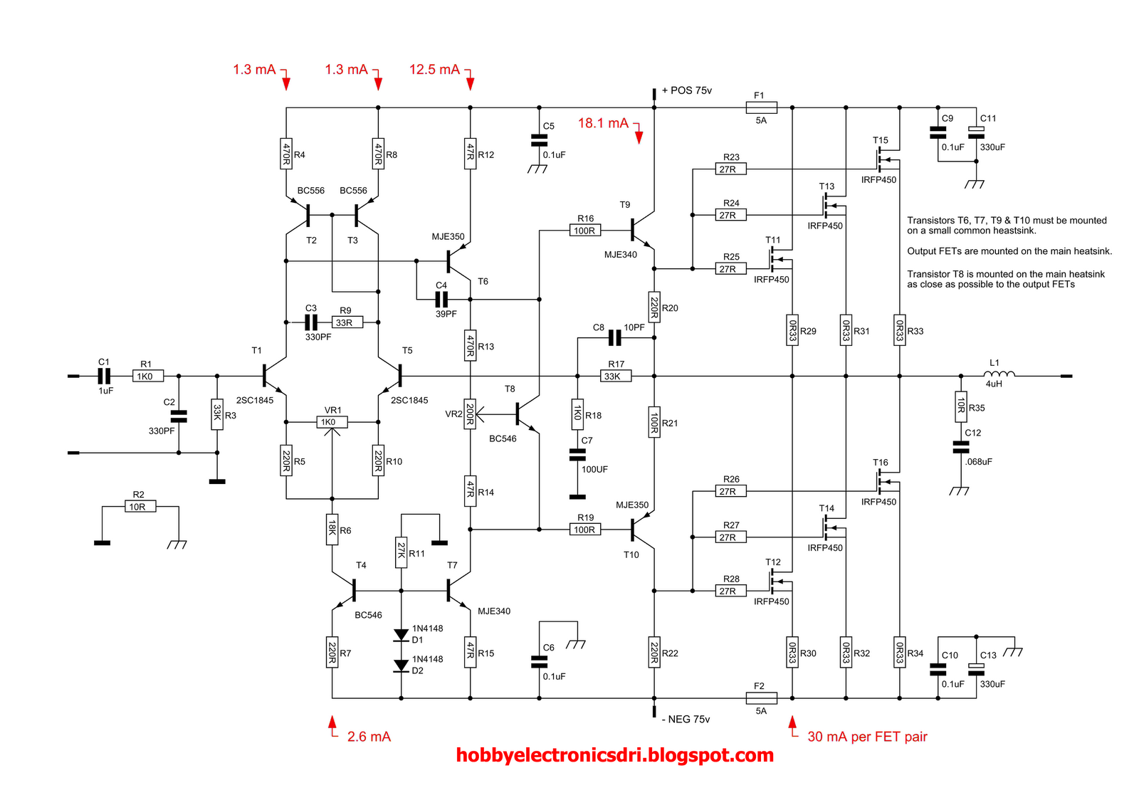 Nelson Pass Diy Amplifiers Schematic
