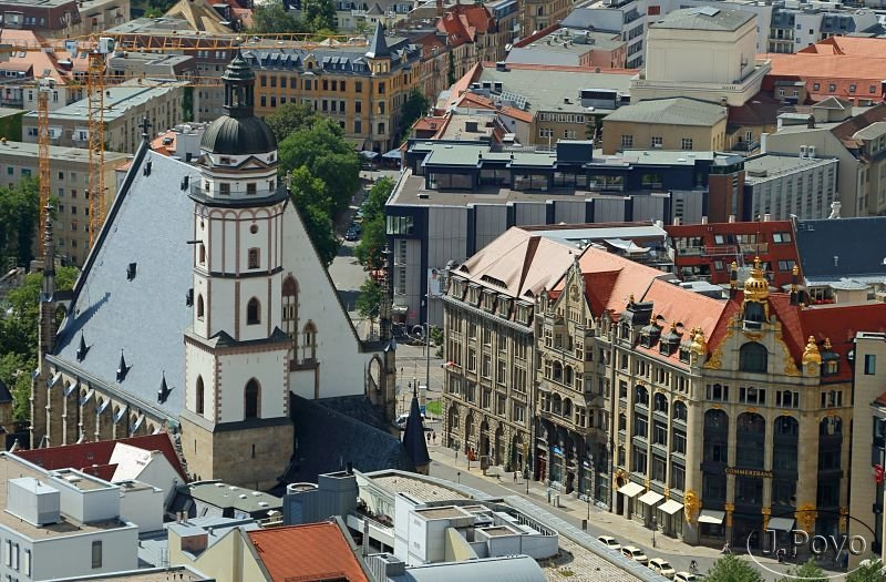 Thomaskirche, Commerzbank, Leipzig