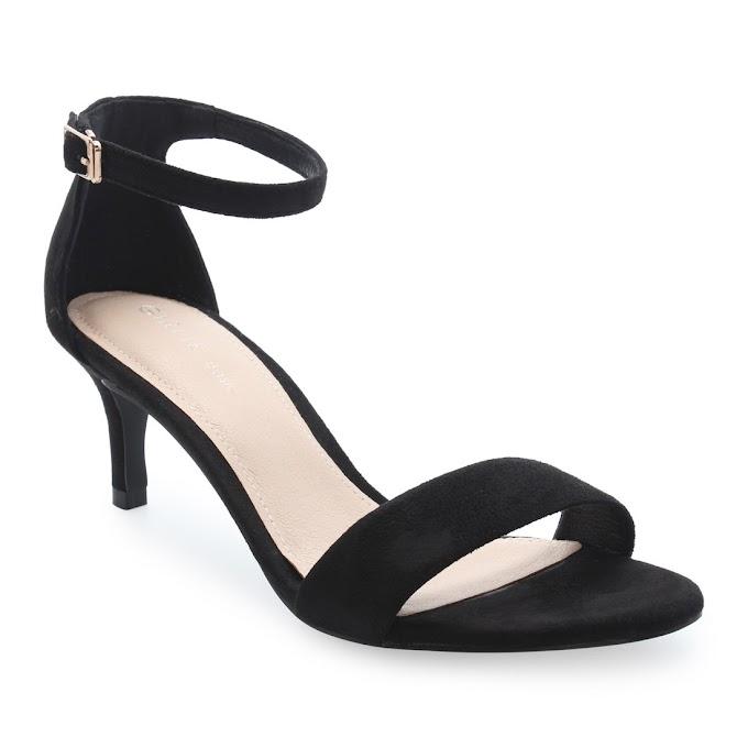 Sandals Cao Gót Quai Ngang