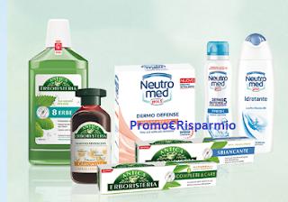 Logo Con Neutromed e Antica Erboristeria vinci buoni da 100 e fino a 1.000 euro