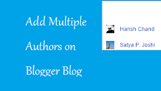 Add Multiple Authors on Blogger Blog