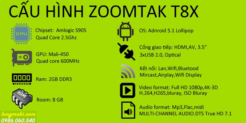 cấu hình zoomtak t8x