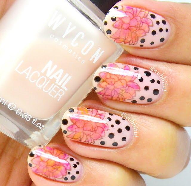leadlight stamping floral nails