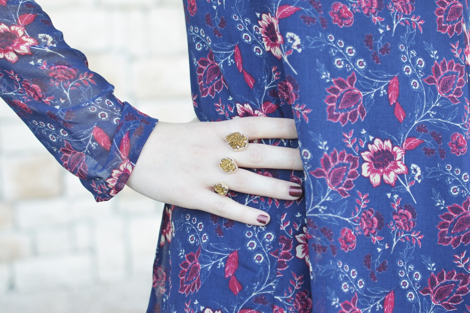 kendra scott gold naomi ring | statement rings | floral print for fall | a memory of us