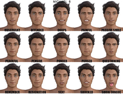 Genesis 3 Male Expressions  Face aniBlocks