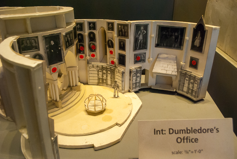 Harry Potter Studios, Engalnd interior model of dumbledore's studio