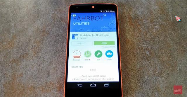تطبيق Undeleter ترجيع الملفات المفقوده عند فرمات هاتفك الأندرويد
