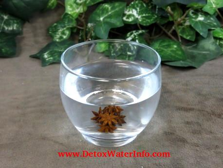 Fat burning detox water star anise infused