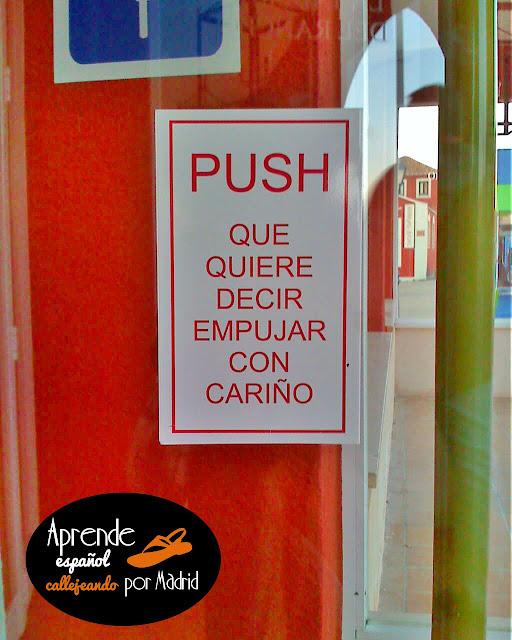 push quiere decir empujar con cariño