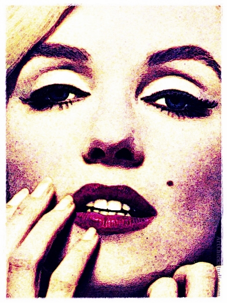 Marilyn Up Close Digital Art