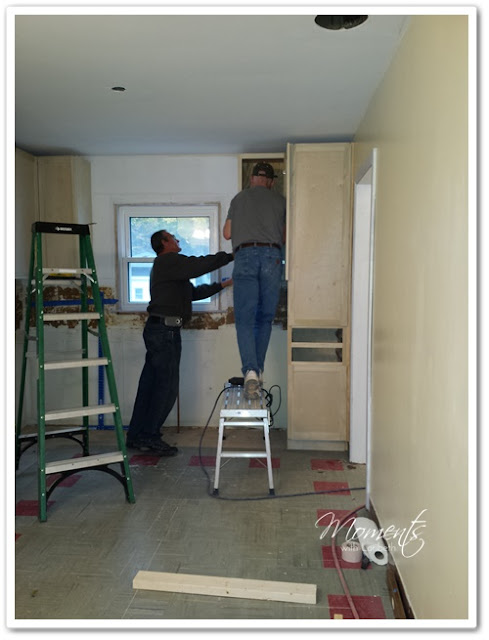 Installing the Amish Cabinets