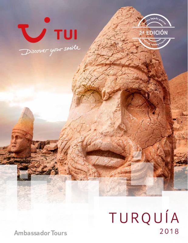 Catálogo TUI Ambassador Circuitos Turquía 2018-19