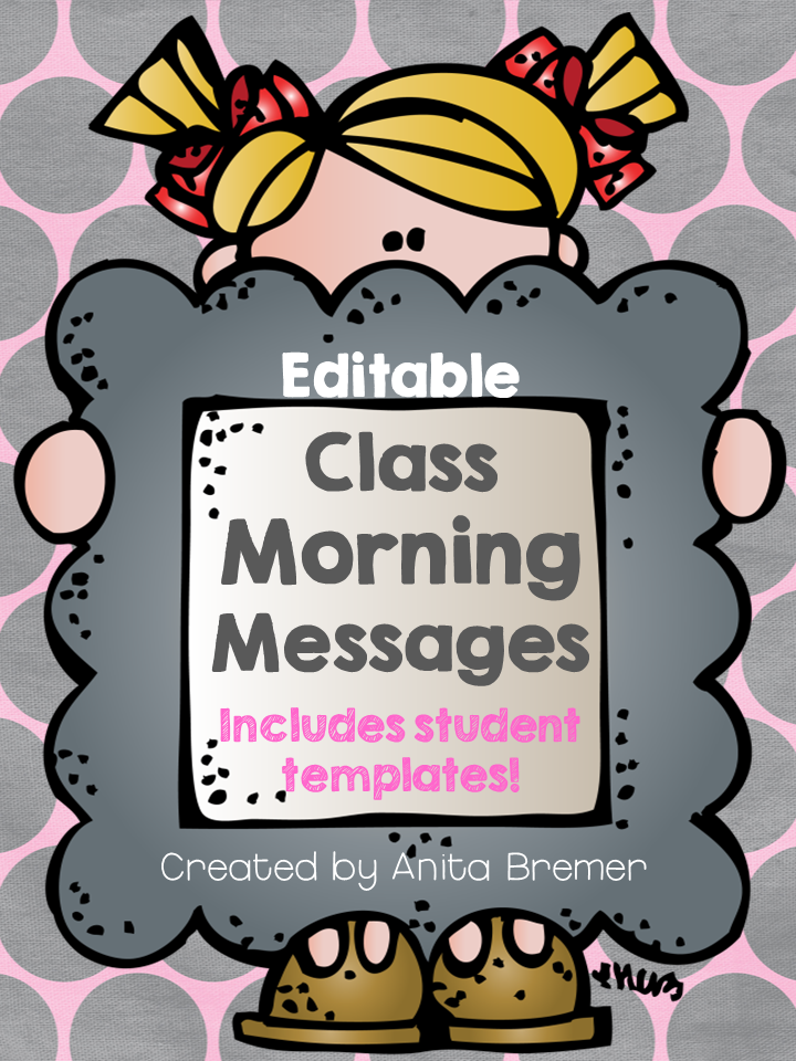 EDITABLE Morning Message activities with student templates