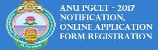 ANU PGCET-2017 Application Form