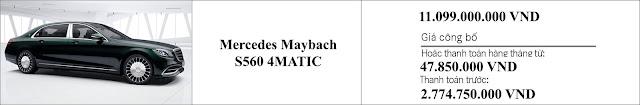 Giá xe Mercedes Maybach S560 4MATIC 2019 tại Mercedes Trường Chinh