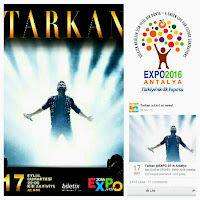 Tarkan at the EXPO 2016