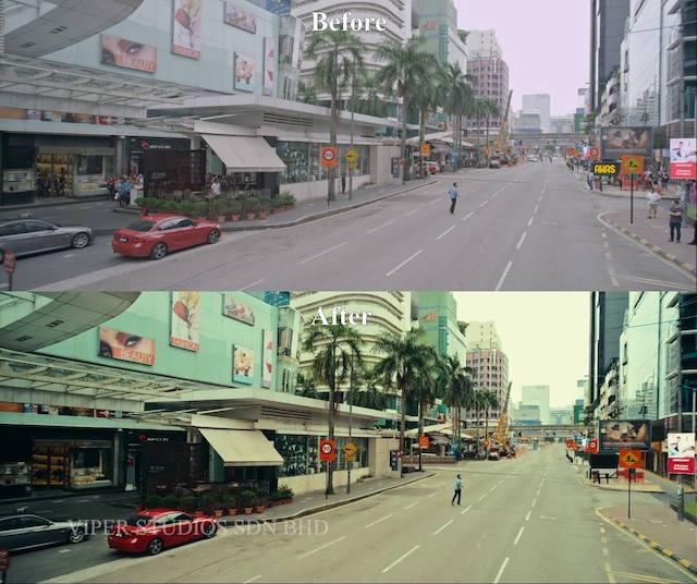 21 Gambar Sebelum dan Selepas Kesan Visual Dalam Filem Desolasi