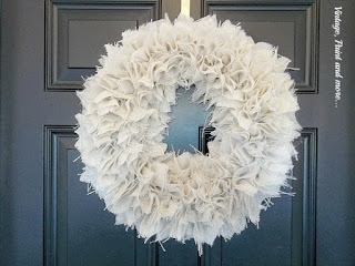 Vintage. Paint and more... burlap wreathtutorial