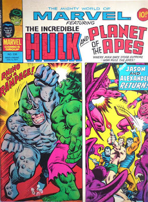 Mighty World of Marvel #236, Hulk and Planet of the Apes
