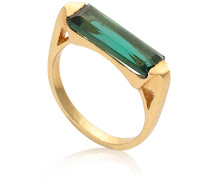 Modern Green Jewellery - Oliver Bonas Emerald Coloured Ring