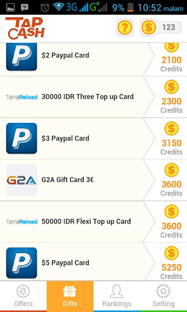 Tap Cash Aplikasi Android Penghasil Dollar selain Whaff reward yang terbukti memberikan penghasilan