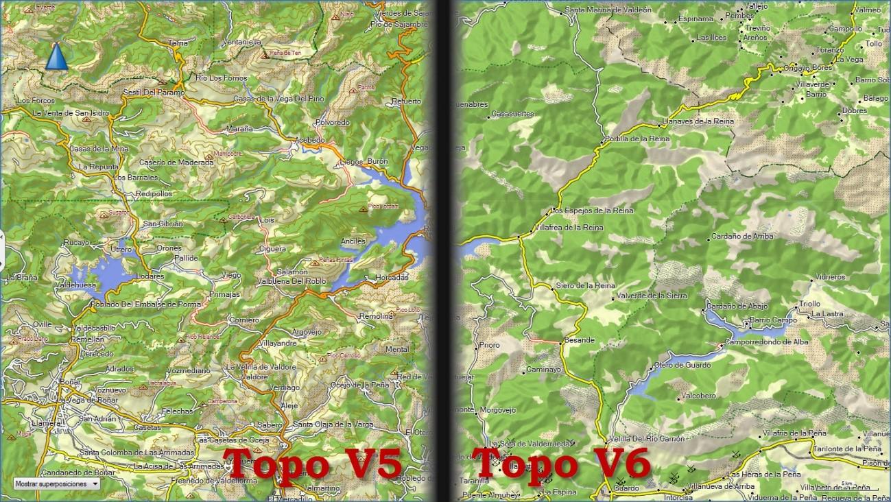 Cartografía Digital: Análisis del Topo España V6 de Garmin