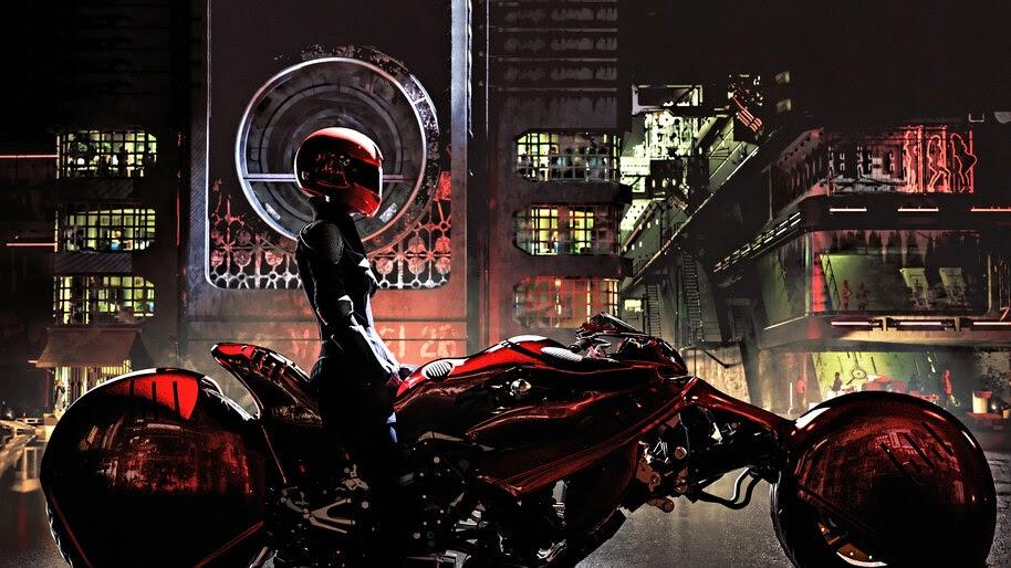 Cyberpunk, Motorcyle, Biker, Girl, Sci-Fi, 4K, #6.735