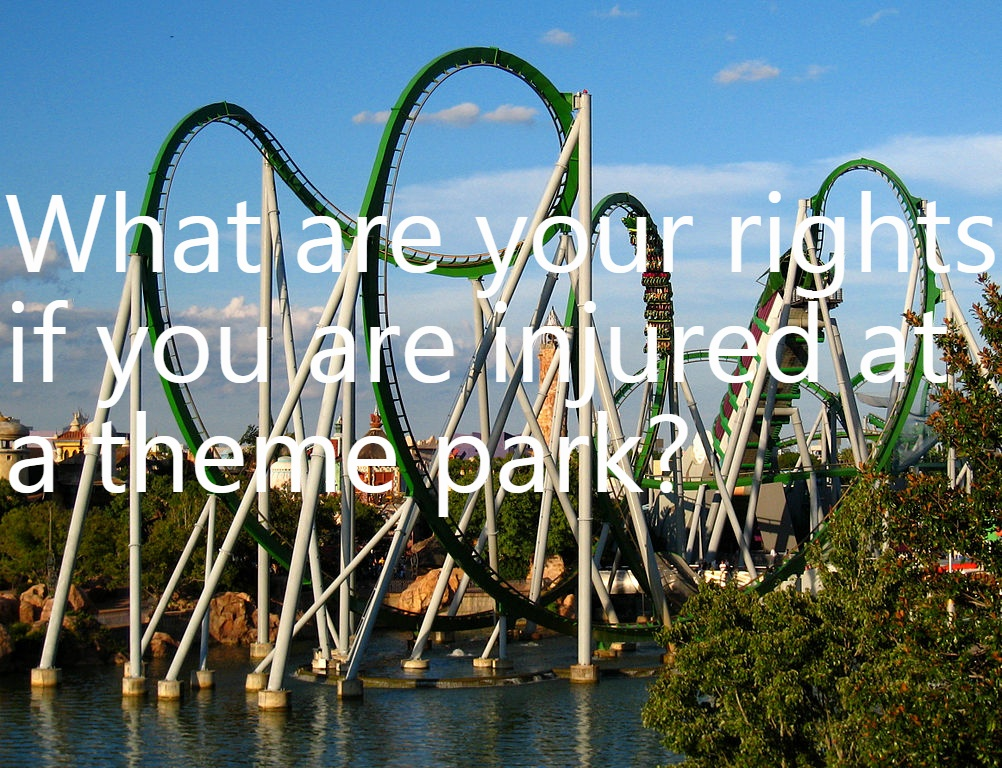 What to do when you are injured at an amusement park