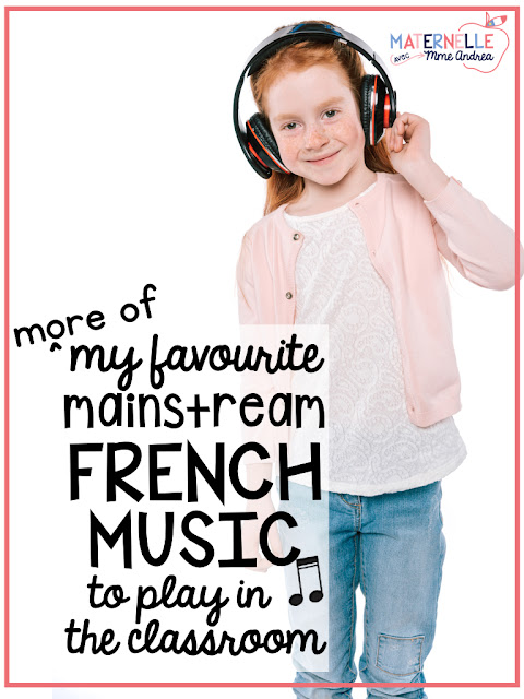 Mainstream French music is great to play during class time in primary immersion or francophone classrooms in minority communities. Expose your students to authentic French culture and get them excited about French celebrities and music with these 10 great songs!