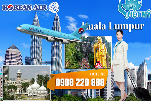 Vé máy bay đi Kuala Lumpur Korean Air
