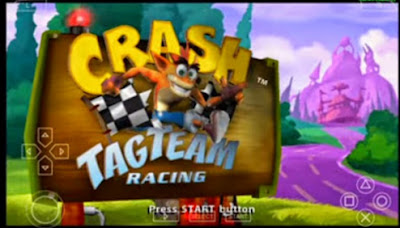 download Game Crash Tag Team Racing(CTR) CSO High Compress For Emulator PPSSPP