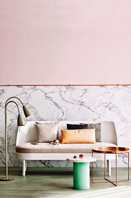 Marble, copper and gray - Interior Trend