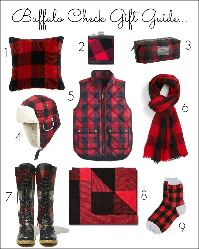 buffalo check - buffalo plaid - buffalo check gifts - buffalo plaid gifts - gift guide - buffalo check gift ideas
