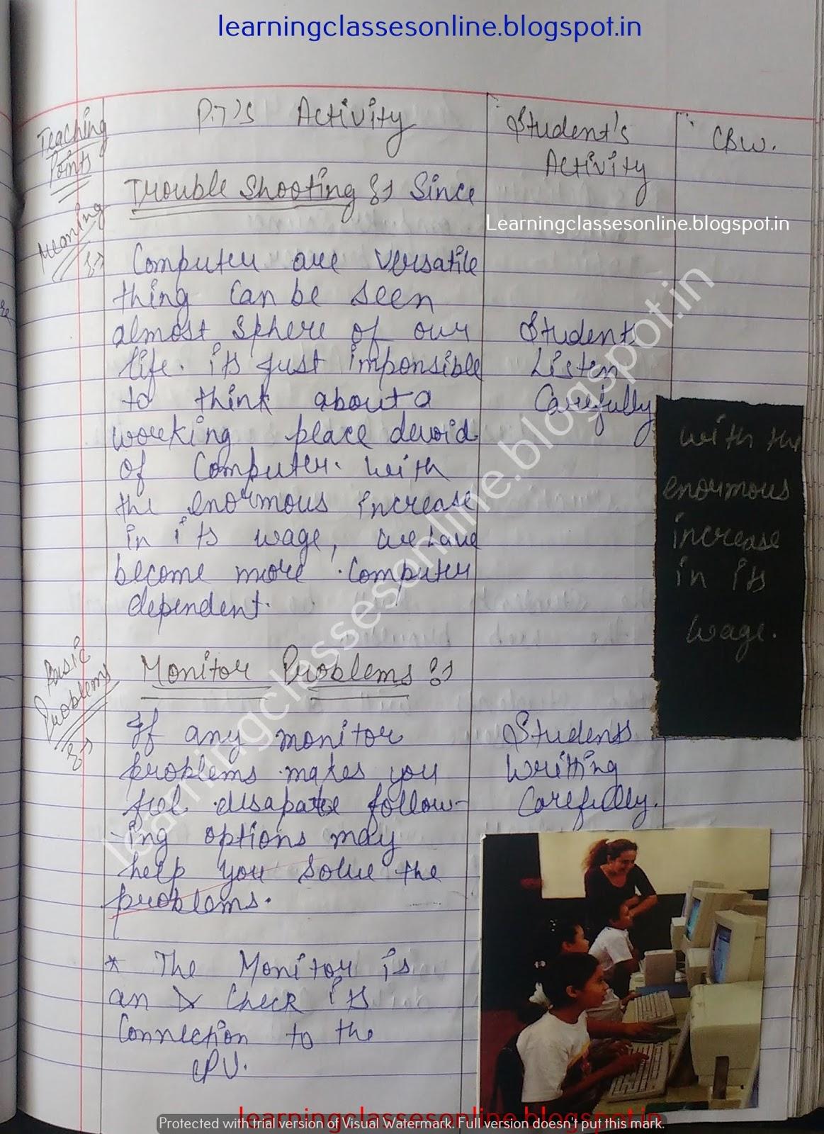 Lesson Plan For Computer Basics,
