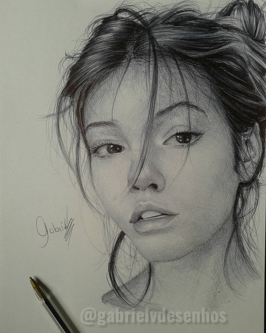 04-Lets-See-where-this-is-Going-Gabriel-Vinícius-Ballpoint-Pen-Portraits-with-very-Different-Expressions-www-designstack-co
