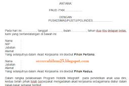 Contoh Format Dokumen Kerja Sama Sekolah PAUD dengan PUSKESMAS