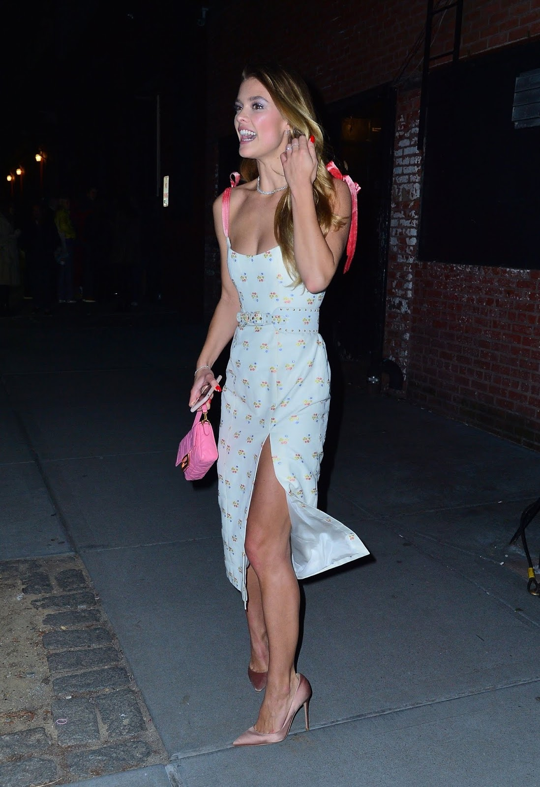 Nina Agdal looks striking as she arrives to the Tiffany & Co party in NYC - 02/09/2019