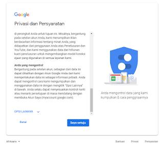 Langkah - langkah membuat akun gmail